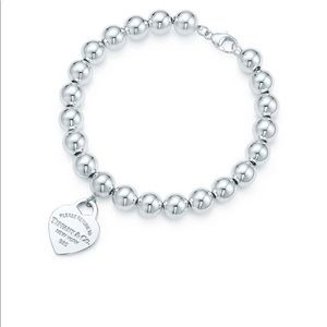 Return to Tiffany bead bracelet 8in